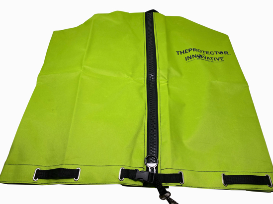 Picture of GREEN Backpack blower cover/ Expandable design.
